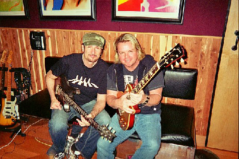 Bruce Kulick and Jesse Damon at RedRum Recording Studios